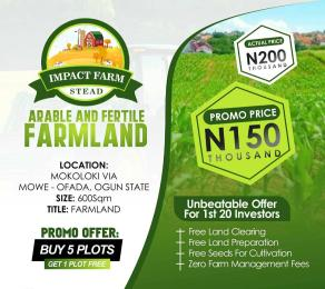 Land for sale MOWE-OFADA Arepo Ogun