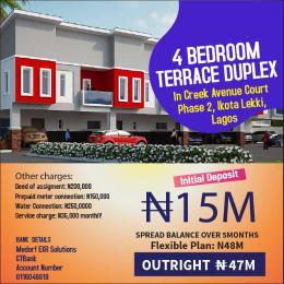 4 bedroom Terraced Duplex House for sale Creek Avenue's Court, Opposite Mega Chicken Ikota Ikota Lekki Lagos