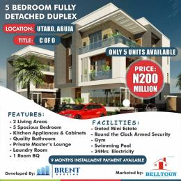 5 bedroom Detached Duplex House for sale Brent Court, Close Proximity To Jabi Mall. Utako Abuja