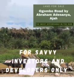 Mixed   Use Land for sale By Abraham Adesanya Ogombo Ajah Lagos