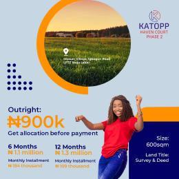 Residential Land Land for sale Katopp Haven Court Phase 2, Ftz (free Trade Zone) Ibeju-Lekki Lagos