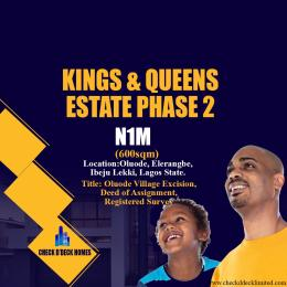 Residential Land Land for sale Oluode Excision Eleranigbe Ibeju-Lekki Lagos