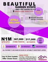 Residential Land for sale 4 Minutes Drive From Ugwogo Roundabout Enugu Enugu