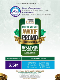Residential Land for sale Ibeju Agbe Ibeju-Lekki Lagos