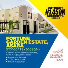 Residential Land for sale Fortune Garden Estate Issele Azagba / Otulu Road, Along Benin Asaba Express Road. Asaba Delta