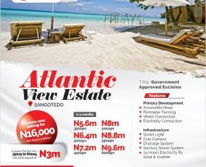 Commercial Land for sale Gracias Atlantic View Monastery road Sangotedo Lagos