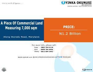 Commercial Land Land for sale Along Ikorodu Road,  Maryland.  Maryland Lagos