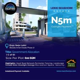 Residential Land Land for sale Lekki seashore estate beside Amen estate phase 2 Eluju Ibeju-Lekki Lagos