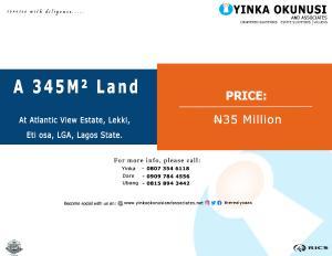 1 bedroom mini flat  Land for sale At Atlantic view estate, Lekki, Eti osa, LGA Lekki Lagos