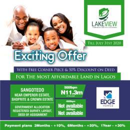 Residential Land Land for sale Infront of Crown Estate.  Monastery road Sangotedo Lagos
