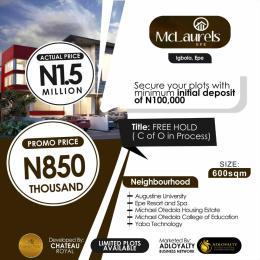 Residential Land for sale Mclaurel Estate, Igbonla Epe Lagos