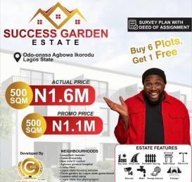 Residential Land Land for sale Success Garden Estate, Odo-Onasa, Agbowa  Ikorodu Lagos