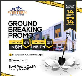 Residential Land Land for sale Western Hilltop Estate Ikola Alagbado Alimosho Lagos