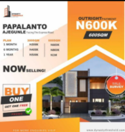 Land for sale Papalanto Ajegunle Facing The Express Road Ewekoro Ogun
