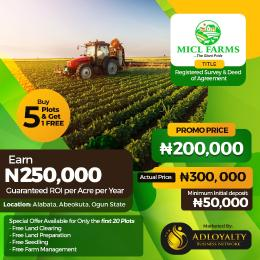 Land for sale MICL Farm, Alabata  Abeokuta Ogun