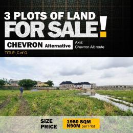 Land for sale Chevron alternative  chevron Lekki Lagos