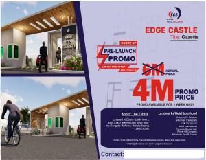Residential Land Land for sale Edge Castle Free Trade Zone Ibeju-Lekki Lagos