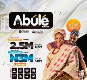 Residential Land Land for sale Abule (lagoon Front Estate), Abegede Badore Road. Ibeju-Lekki Lagos