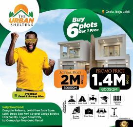 Residential Land Land for sale Urban Shelter, Otoolu Before La Campaign Tropicana Beach Resort. Ibeju-Lekki Lagos