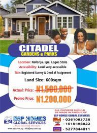 Residential Land Land for sale Noforija, Epe, Lagos State  Epe Road Epe Lagos