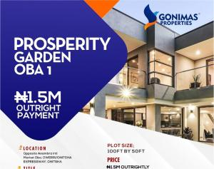 Joint   Venture Land for sale Behind Prestigious Grundvit Polythecnic Institute And Opp. Anambra State International Market By Owerri Road Idemili south Anambra