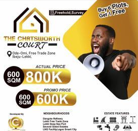 Residential Land Land for sale Chartsworth Court, Ode-Omi Free Trade Zone Ibeju-Lekki Lagos