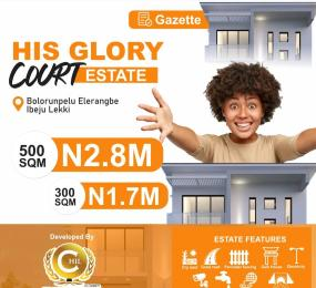 Land for sale His Glory Court. Eleranigbe Ibeju-Lekki Lagos