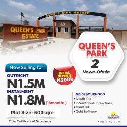 Residential Land Land for sale Queen's Park Estate Mowe Obafemi Owode Ogun