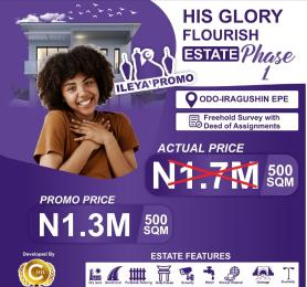 Land for sale His Glory Flourish Estate Phase1. Epe Lagos