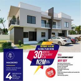4 bedroom Semi Detached Duplex House for sale 4Bedroom Semi-Detached Duplex At Rose Garden Estate Magboro. Ifo Ogun