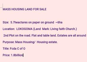 Residential Land Land for sale Lokogoma Abuja
