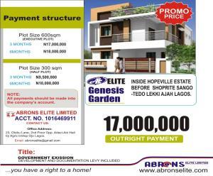 Residential Land Land for sale Elite Genesis Garden Phase 1 Facing Express Inside Hopeville Estate Off Lekki Epe Expressway Sangotedo Ajah Lagos