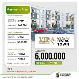 Serviced Residential Land Land for sale VIP Gardens 6th Avenue Festac Town Buy and Build with Court Judgement  Festac Amuwo Odofin Lagos