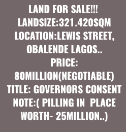 Residential Land Land for sale - Obalende Lagos Island Lagos