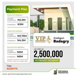Residential Land Land for sale VIP Garden with Gazette buy and build in a built up area  Aradagun Badagry Lagos