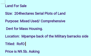 Mixed   Use Land for sale Back Of Military Barrack Mpape Abuja