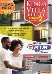 Residential Land Land for sale Kings villa Estate Asaba,governor's estate by coca junction ibusa town Asaba Delta