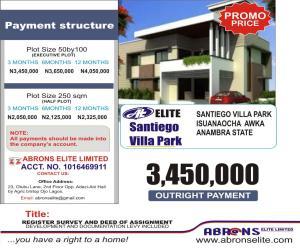 Residential Land for sale Santiago Park Villa Estate, Isuaniocha Awka Awka South Anambra