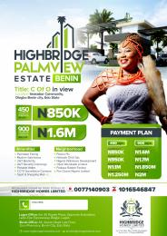 Serviced Residential Land Land for sale Highbridge palmview estate km 26 imasabor community Benin-sapele/warri Expressway Benin City Edo Central Edo