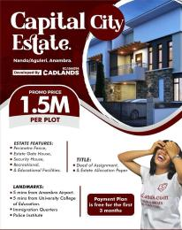 Serviced Residential Land Land for sale Capital city estate directly facing express Nando Aguleri Town  Awka South Anambra