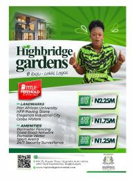 Industrial Land for sale Highbridge Gardens, Eleko Ibeju-Lekki Lagos