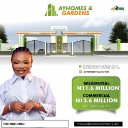 Commercial Land Land for sale Ay homes and gardens Directly Facing Express Before Eleko Junction Ajah Lagos