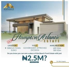 Residential Land Land for sale Hampton Atlantic estate with government approved excision Debojo town Eleko just along the coastal road that connects Ibeju lekki and Victoria Island Eleko Ibeju-Lekki Lagos