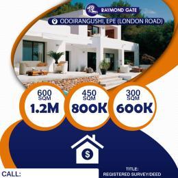 Residential Land for sale Odoiragushi Epe Lagos Epe Road Epe Lagos