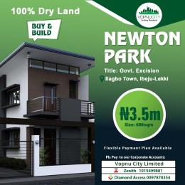 Residential Land Land for sale Newton park estate with government approved excision, very close to lekki free trade zone and Dangote refinery Free Trade Zone Ibeju-Lekki Lagos