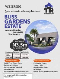 Mixed   Use Land for sale Bliss Garden Estate, Okun Ise Town Ibeju Lekki Ise town Ibeju-Lekki Lagos