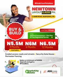 Residential Land Land for sale Newtown Layout Classic SARS Road  Rupkpokwu Port Harcourt Rivers