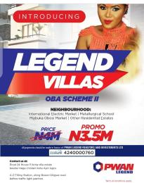 Commercial Land Land for sale Legend villas Oba Scheme 2 Oba  Onitsha South Anambra