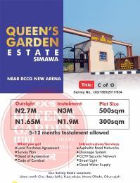 Serviced Residential Land Land for sale Queen Gardens Simawa Obafemi Owode Ogun