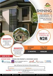Serviced Residential Land for sale Shinning Star Estate Awka South Anambra